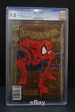 1 Spiderman #1 Gold UPC Variant CGC 9.8 Wal Mart Mcfarlane Art 10,000 (RARE)