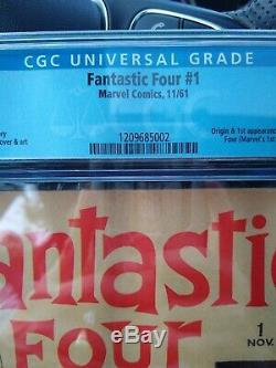 1961 First Appearance Marvel Fantastic Four #1 CGC Grade 5.0 Stan Lee/Jack Kirby