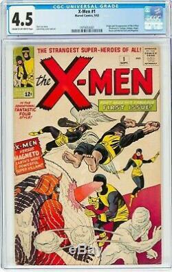 1963 X-Men 1 CGC 4.5! 1st App of Magneto, Mutants, Professor X! KEY! Sharp
