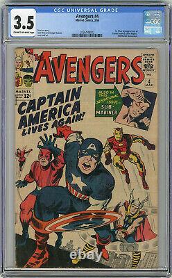 1964 Avengers 4 CGC 3.5 1st Silver Age Captain America