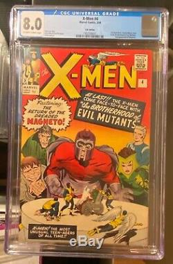 1964 X-Men #4 1st Scarlet Witch and 2nd Magneto CGC 8.0 VF
