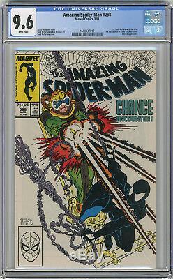 1988 Amazing Spider-Man 298,299,300 CGC 9.6 1st Venom White Pages