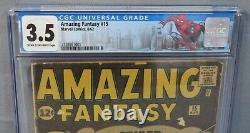 AMAZING FANTASY #15 (Spider-Man 1st appearance) CGC 3.5 VG- Marvel Comics 1962