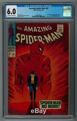 AMAZING SPIDER-MAN #50 CGC 6.0 OWithW First Appearance KINGPIN! KEY GRAIL