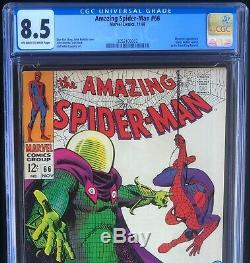 AMAZING SPIDER-MAN #66 (1968) CGC 8.5 MYSTERIO App & GREEN GOBLIN Cameo