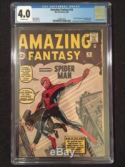 Amazing Fantasy #15 (1962), CGC 4.0 (VG), 1st Appearance of Spider-Man
