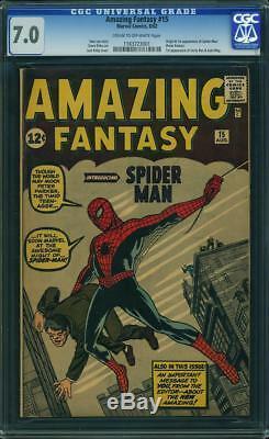 Amazing Fantasy 15 1st Spider-Man CGC 7.0