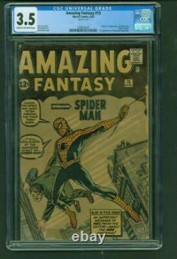 Amazing Fantasy #15 CGC 3.5 1st App. Spider-Man Stan Lee Jack Kirby