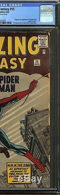 Amazing Fantasy #15 CGC 5.0 Origin 1st app of SPIDER-MAN Peter Parker JACK KIRBY
