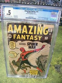Amazing Fantasy #15 CGC. 5 1ST Appearance of Spider-Man