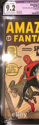 Amazing Fantasy #15 CGC 9.2 NM- ORIGIN 1ST SPIDER-MAN PETER PARKER STAN LEE RARE