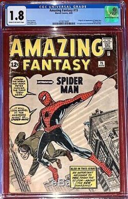 Amazing Fantasy #15 Cgc 1.8 Marvel