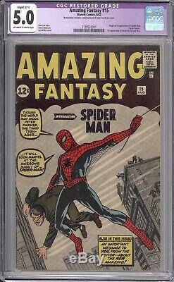 Amazing Fantasy #15 Cgc 5.0 1962 / 1st Appearance Of Spider-man