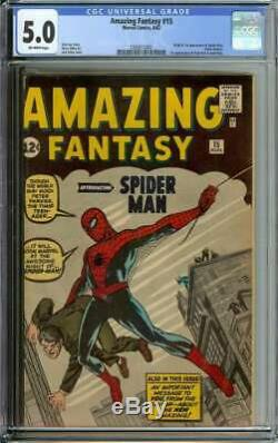Amazing Fantasy #15 Cgc 5.0 Ow Pages