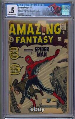 Amazing Fantasy #15 Cgc. 5 Origin & 1st App Spider-man