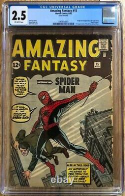 Amazing Fantasy #15 (Marvel, 1962) CGC 2.5 Off-white pages Presents Excellent
