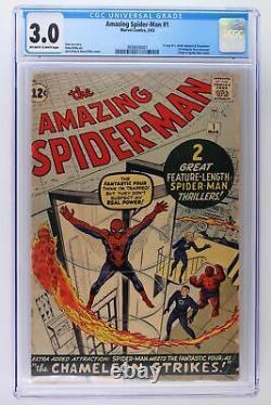 Amazing Spider-Man #1 Marvel 1963 CGC 3.0 1st App J. Jonah Jameson & Chameleon