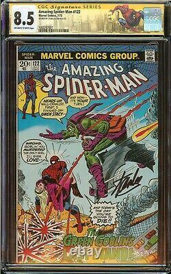 Amazing Spider-Man #122 CGC 8.5 Signed Stan Lee, Death Green Goblin 1973