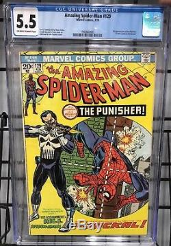 Amazing Spider-Man #129 (1974) 1st Appearance of Punisher CGC 5.5 Marvel