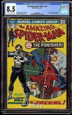 Amazing Spider-Man # 129 CGC 8.5 OWithW (Marvel, 1974) 1st appearance Punisher