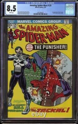 Amazing Spider-Man # 129 CGC 8.5 White (Marvel, 1974) 1st appearance Punisher