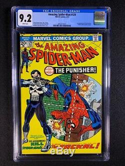 Amazing Spider-Man #129 CGC 9.2 (1974) 1st app of the Punisher WHITE PAGES