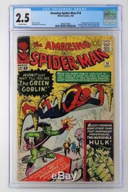Amazing Spider-Man #14 CGC 2.5 GD+ Marvel 1964 1st App of the Green Goblin