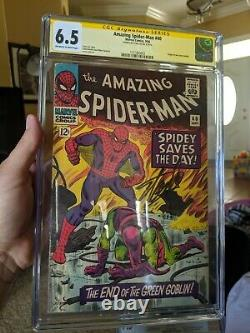 Amazing Spider-Man #40 CGC 6.5 Signed by Stan Lee