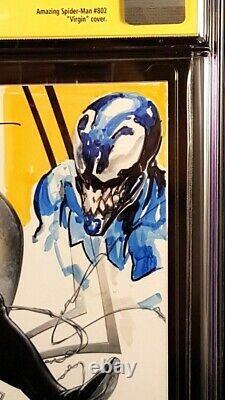 Amazing Spider-man #1 Cgc Ss 9.8 Clayton Crain Variant + Venom Original Remark