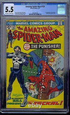 Amazing Spider-man #129 Cgc 5.5 1st Punisher Jackal