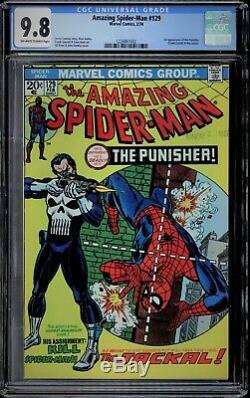 Amazing Spider-man #129 Cgc 9.8 Ow-w, Local Southern California Pick Up Only