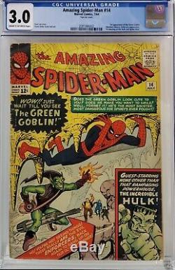Amazing Spider-man #14 Cgc 3.0 1st Green Goblin