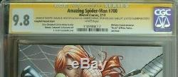 Amazing Spider-man #700 Cgc 9.8 Ss Signed Stan Lee Ramos + Others Midtown