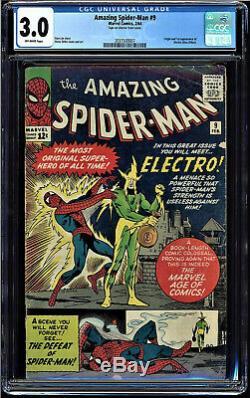 Amazing Spider-man #9 Cgc 3.0 Origin And 1st App Of Electro Cgc #2037500007