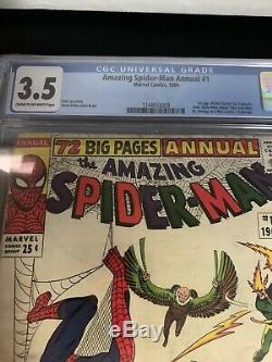 Amazing Spider-man Annual #1 Cgc 3.5 1st Sinister Six Appearance