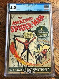 Amazing Spiderman #1 ASM 1 Cgc 5.0 Origin Spider-Man OFF-WHITE PAGES