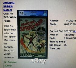 Amazing Spiderman 1 CGC 8.0 Marvel 1963 WHITE Pgs 2045726001