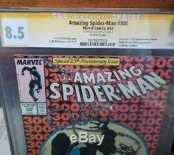 Amazing Spiderman #300 Signed by Stan Lee Graded CGC 8.5 Signature Series Venom