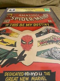 Amazing Spiderman #31 CGC 6.5 Signed by Stan Lee
