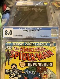 Amazing spiderman 129 cgc 8.0 1st App Of The Punisher