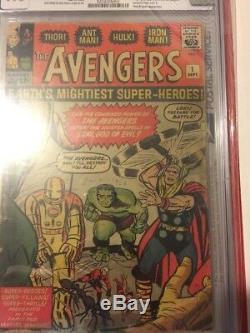Avengers 1 CGC 1.8 Silver Age Key Marvel Comic 1st App. Avengers