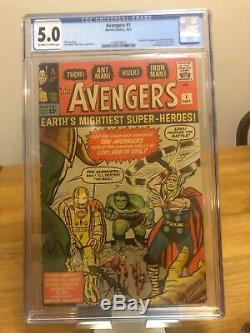 Avengers 1 CGC 5.0 OWithW