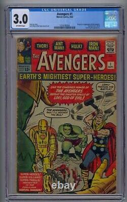 Avengers #1 Cgc 3.0 Origin/1st Avengers