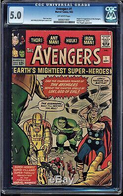 Avengers #1 Cgc 5.0 Origin & 1st Appearance Cgc #0006019001