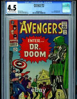 Avengers #25 CGC 4.5 1966 Silver Age Marvel Comics Dr Doom S3