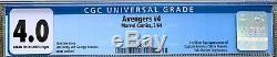 Avengers #4 (1964) CGC 4.0 - 1st Silver Age Captain America (Steve Rogers)