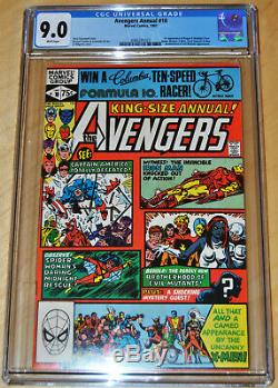 Avengers Annual #10 CGC 9.0 (WHITE PAGES) 1st App. Of Rogue & Madeline Pryor