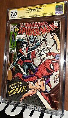 CGC 7.0 Amazing Spiderman 101 signed John Romita Roy Thomas 1st App Morbius