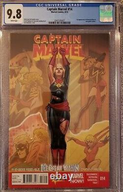 Captain Marvel 14 CGC 9.8 1st Appearance of Kamala Khan (Cameo)