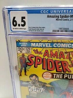 Cgc 6.5 Amazing Spiderman #129 Marvel 2/74 1st Punisher App